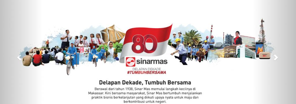 sinar mas 80 tahun tumbuh bersama Indonesia