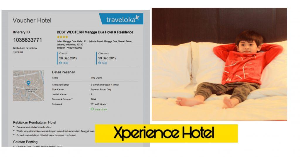 traveloka xperience pesan hotel